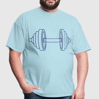 Dumbbell Weight - Men's T-Shirt