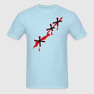 a scar all  stitched up - Men's T-Shirt
