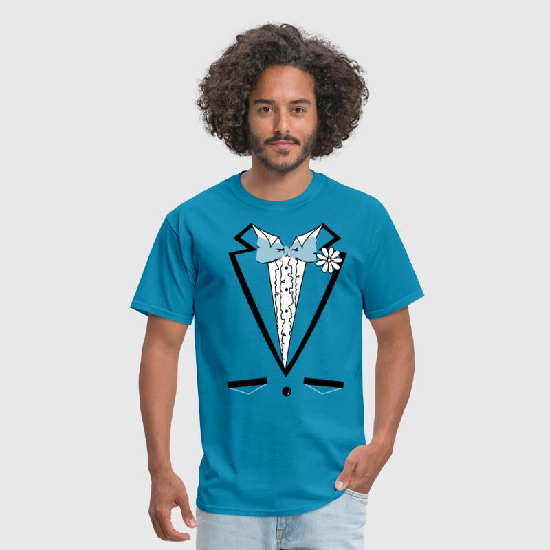 Vintage Blue Tuxedo Tux T Shirt by DirtyRagz | Spreadshirt