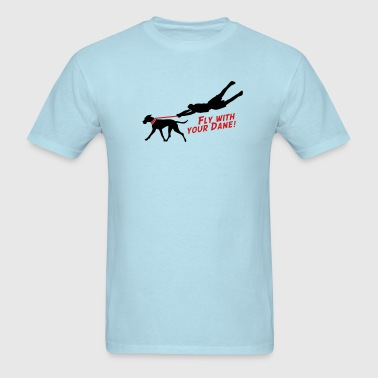 Fly with your dane - Men's T-Shirt