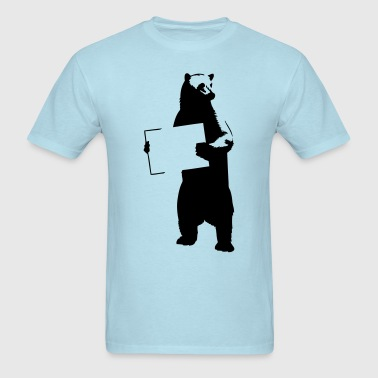 Bear With Sign HD VECTOR - Men's T-Shirt