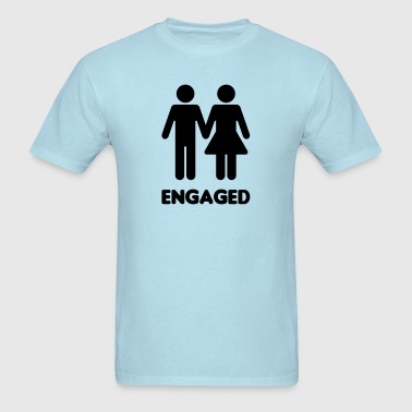 Engaged Couple Sign - Men's T-Shirt