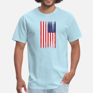 Distressed American Flag american flag distressed - Men's T-Shirt