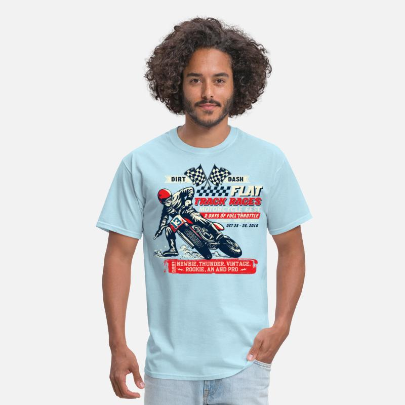 Motorcycle T-Shirts - Dirt Dash Moto - Men's T-Shirt powder blue