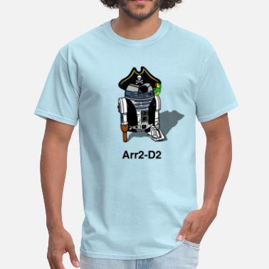 Funny Art Pirate Droid Arr2-D2 - Men's T-Shirt