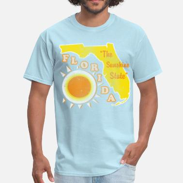 Florida-sunshine-state-states florida, the sunshine state vintage design - Men's T-Shirt