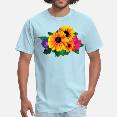 Off Bloom Yellow Daisies and Friend - Men's T-Shirt
