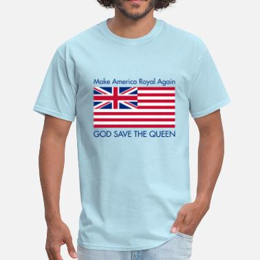 British American Flag Make America Royal Again - Men's T-Shirt