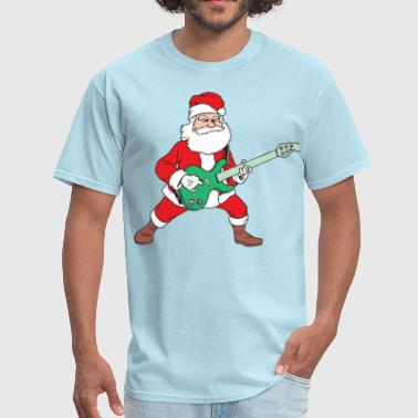 Rocking Santa Rock and Roll Santa - Men's T-Shirt