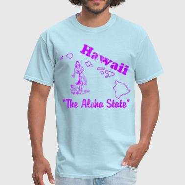 Aloha State Hawaii, the aloha state vintage T design - Men's T-Shirt