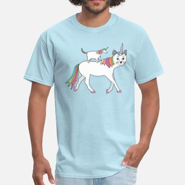 Unicorn Cat  cat-unicorn on unicorn-cat - Men's T-Shirt