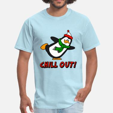 Brr Chill Out Penguin Chilly Willy - Men's T-Shirt