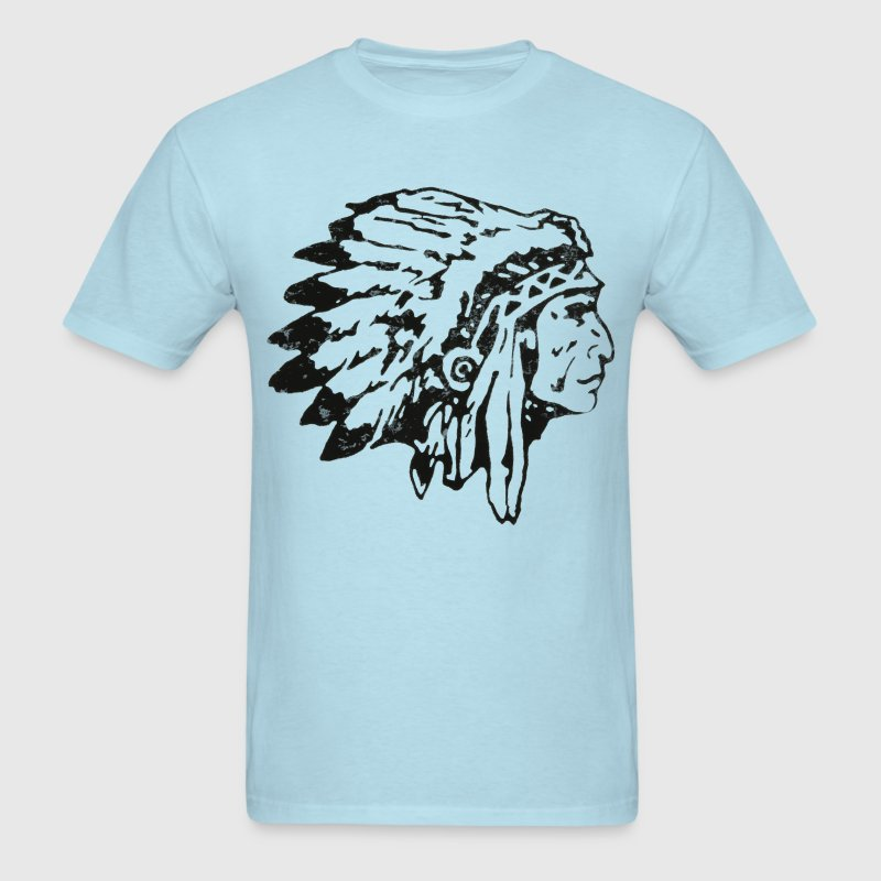 native indian chief - Men's T-Shirt