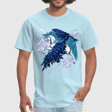 Night Sky Winged Unicorn  - Men's T-Shirt