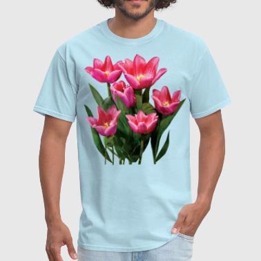 Group of Pink Tulips - Men's T-Shirt