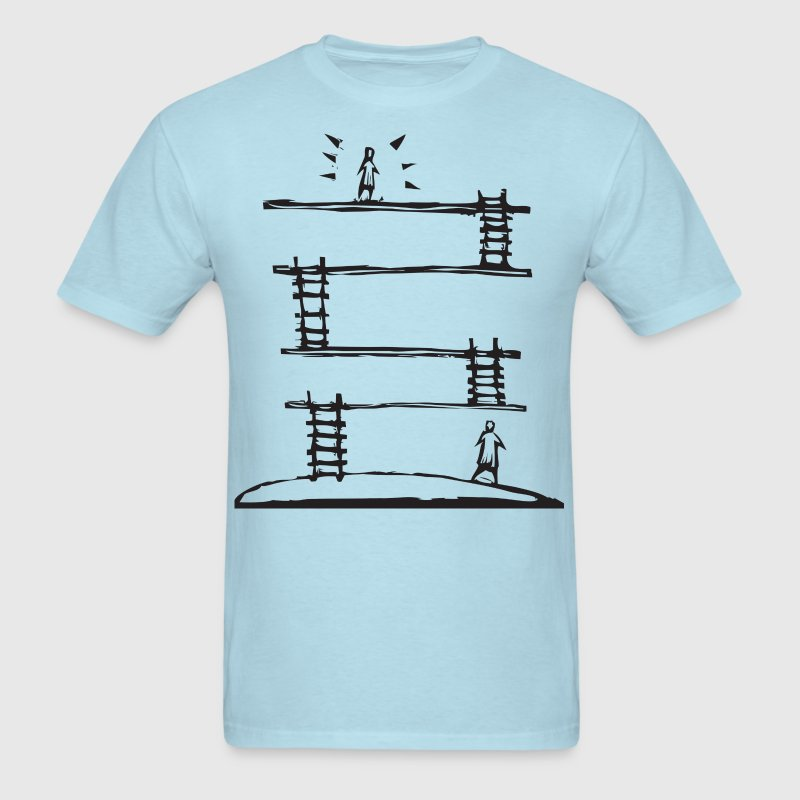 Climbing the Corporate Ladder - Men's T-Shirt