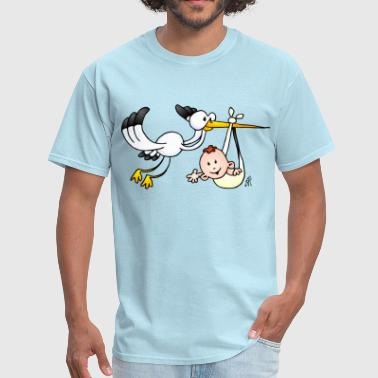 Stork And Baby Stork with a baby - Men's T-Shirt