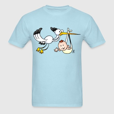 Stork with a baby - Men's T-Shirt
