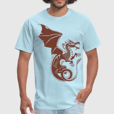 Dragon - Asian - Tattoo - Fantasy - Men's T-Shirt