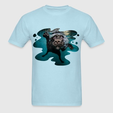 Underwater Dogs Duch by Seth Casteel - Men's T-Shirt