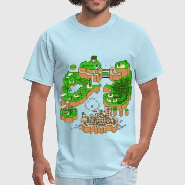 Super Mario Bros Super Mario World Map - Men's T-Shirt