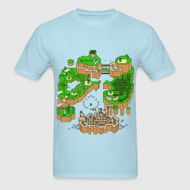 Super Mario World Map - Men's T-Shirt