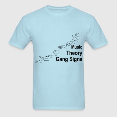 Music Theory Gang Signs (black) - Men's T-Shirt
