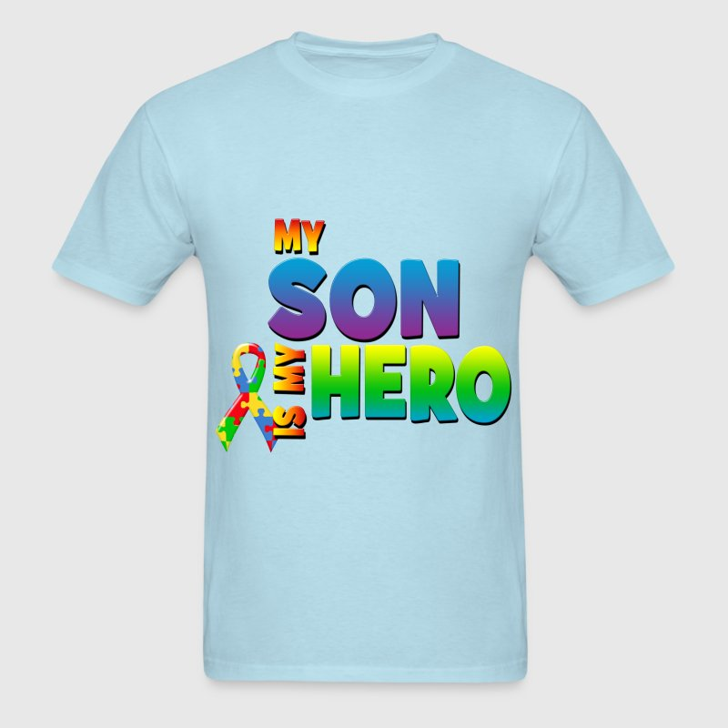 Autism Awareness My Son Is My Hero - Men's T-Shirt