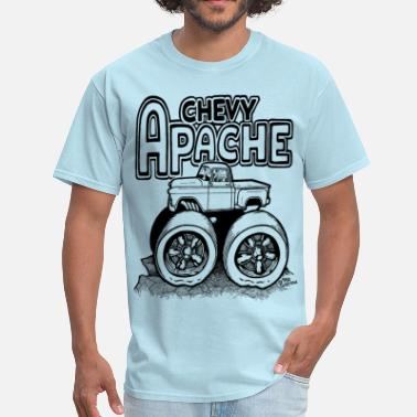 Chevy Pickup Apache 1956 Chevy apache with Lifted Truck.png - Men's T-Shirt