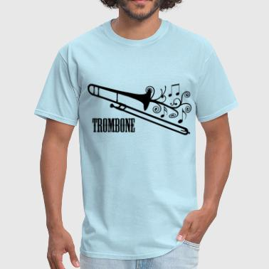Trombone Trombone with Swirls - Men's T-Shirt