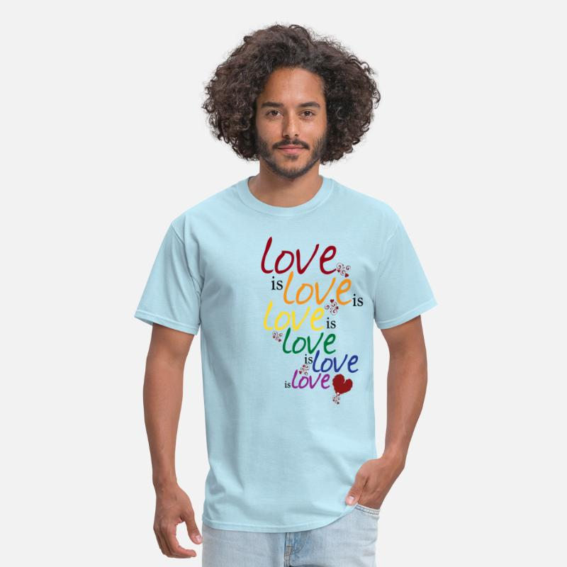 Equalizer T-Shirts - Love is love (Gay Marriage) - Men's T-Shirt powder blue