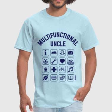 Nephew Multifunctional Uncle (16 Icons) - Men's T-Shirt