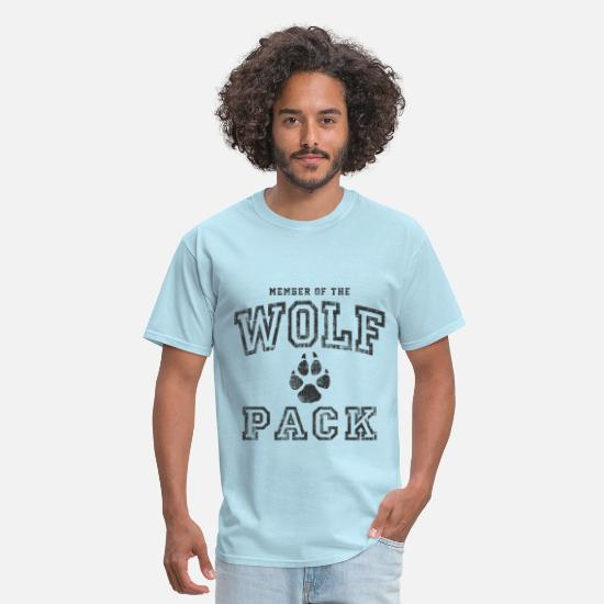Wolf T-Shirts - Wolf Pack - Men's T-Shirt powder blue