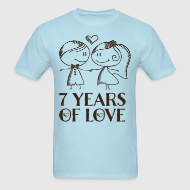 7th Anniversary 7 Years - Men's T-Shirt