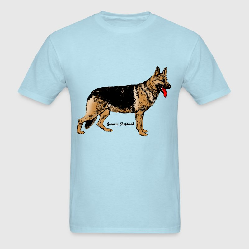 Dog German Shepherd - Men's T-Shirt