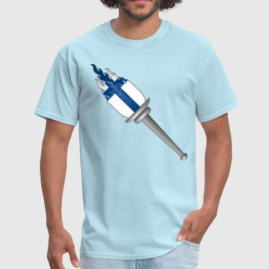 Olympic flame torch Finland - Men's T-Shirt