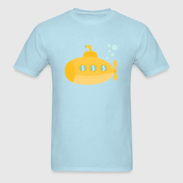 Yellow submarine with bubbles - Men's T-Shirt