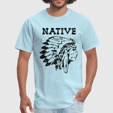 Native American Indian Dog native american indian chief - Men's T-Shirt
