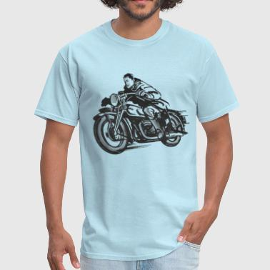 Vintage Motorcycle Hoodie - Speeder | Motorcyclesh - Men's T-Shirt