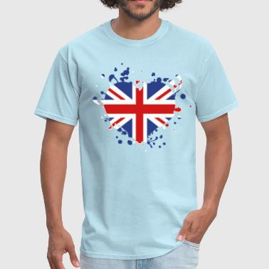 flag heart English British England london olympic games olympics - Men's T-Shirt
