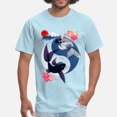 Splish Splash Yin and Yang Koi - Men's T-Shirt