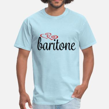 Bariton Baritone Hearts - Men's T-Shirt