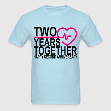 2nd_second_anniversary_2_years_together_ - Men's T-Shirt