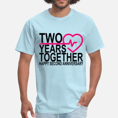 2 Year Anniversary 2nd_second_anniversary_2_years_together_ - Men's T-Shirt