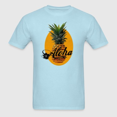 Pineapple Aloha Hawaii Usedlook - Men's T-Shirt