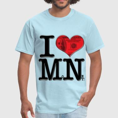 I Love MN - MoNey (for light-colored apparel) - Men's T-Shirt