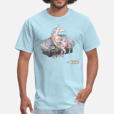 Unicorns drunk unicorn - Men's T-Shirt