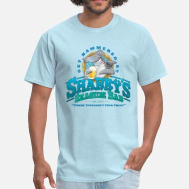 Seaside Sharky's Seaside Bar - Men's T-Shirt
