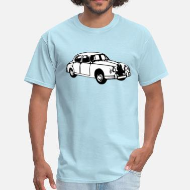 Jaguar Vintage Car Jaguar mk1 illustration - Men's T-Shirt