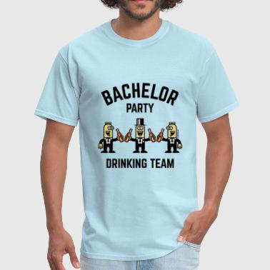 Boozing Alcohol Witness Bachelor Party Drinking Team (PNG / 4C) - Men's T-Shirt